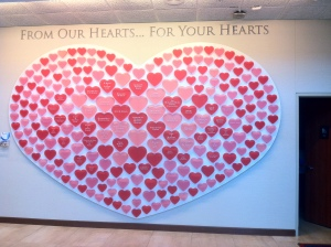 Vday- Heart donor wall